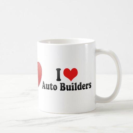 Amo constructores autos taza de café