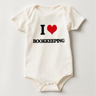 Amo contabilidad traje de bebé