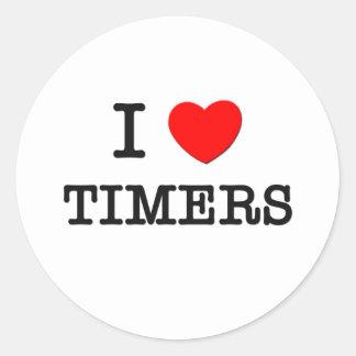 Amo contadores de tiempo etiqueta redonda