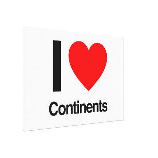 amo continentes impresiones en lona