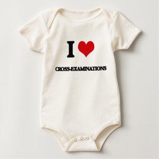 Amo contrinterrogatorios trajes de bebé
