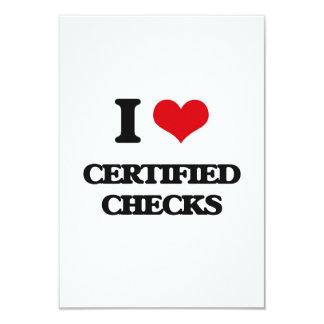 Amo controles certificados invitación 8,9 x 12,7 cm