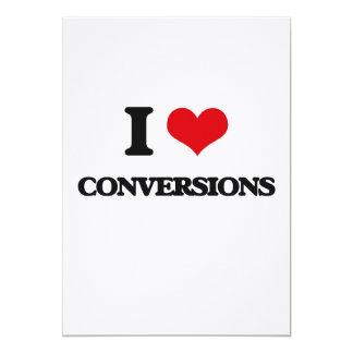 """Amo conversiones invitación 5"""" x 7"""""""