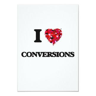 """Amo conversiones invitación 3.5"""" x 5"""""""
