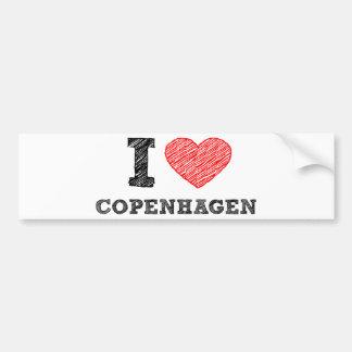 Amo Copenhague Pegatina Para Auto
