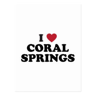Amo Coral Springs la Florida Tarjeta Postal