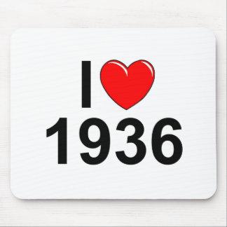 Amo (corazón) 1936 alfombrilla de ratón