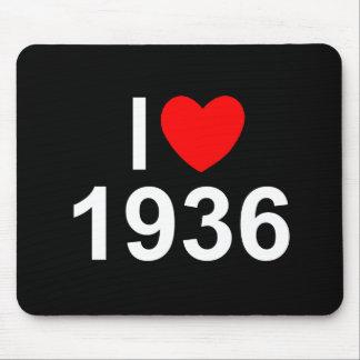 Amo (corazón) 1936 alfombrillas de ratón