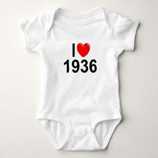 Amo (corazón) 1936 mameluco de bebé