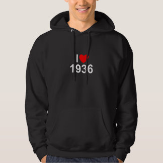 Amo (corazón) 1936 sudadera con capucha