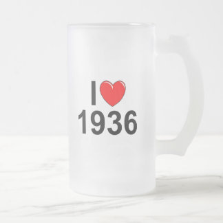 Amo (corazón) 1936 taza de cristal