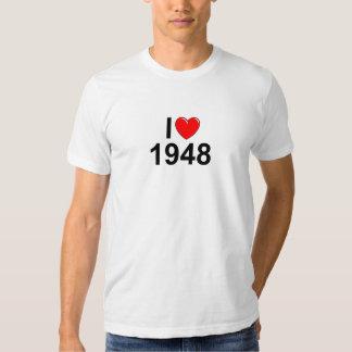 Amo (corazón) 1948 remeras