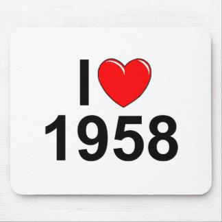 Amo (corazón) 1958 alfombrilla de raton