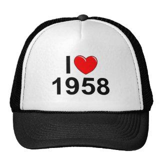 Amo (corazón) 1958 gorras