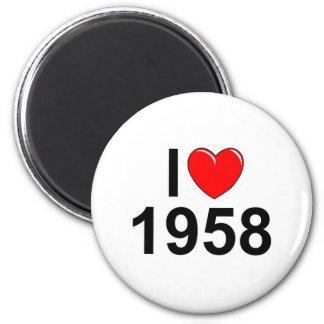 Amo (corazón) 1958 imán redondo 5 cm