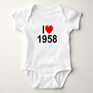 Amo (corazón) 1958 remeras
