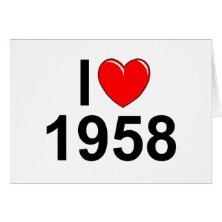 Amo (corazón) 1958 tarjeta de felicitación