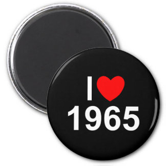 Amo (corazón) 1965 imán redondo 5 cm