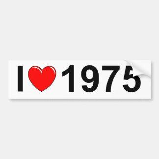 Amo (corazón) 1975 pegatina para auto