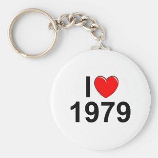 Amo (corazón) 1979 llaveros personalizados