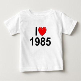 Amo (corazón) 1985 playera de bebé