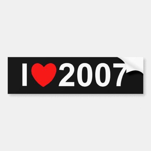 Amo (corazón) 2007 pegatina de parachoque