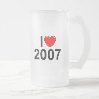 Amo (corazón) 2007 taza de cristal