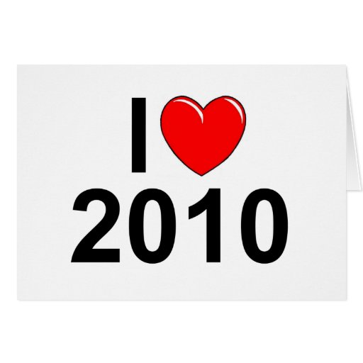 Amo (corazón) 2010 tarjeta de felicitación