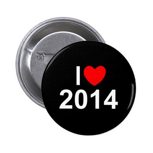 Amo (corazón) 2014 pin redondo 5 cm