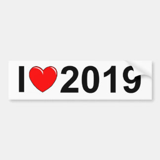 Amo (corazón) 2019 pegatina para auto
