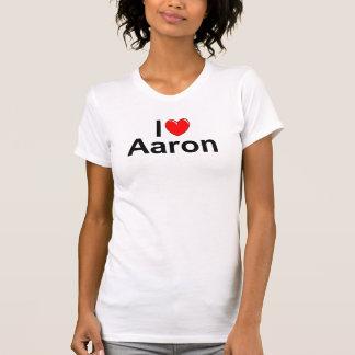 Amo (corazón) a Aaron Camiseta