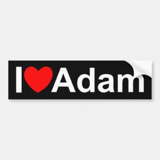Amo (corazón) a Adán Pegatina Para Auto