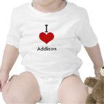 Amo (corazón) a Addison Trajes De Bebé