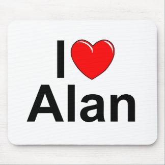 Amo (corazón) a Alan Alfombrillas De Ratón