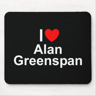 Amo (corazón) a Alan Greenspan Mousepad