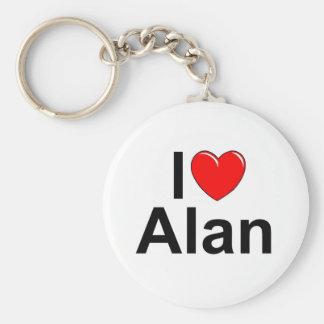 Amo (corazón) a Alan Llavero Redondo Tipo Pin