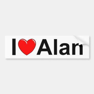 Amo (corazón) a Alan Pegatina Para Auto