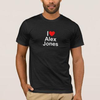 Amo (corazón) a Alex Jones Playera
