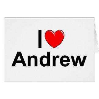 Amo (corazón) a Andrew Tarjeta De Felicitación
