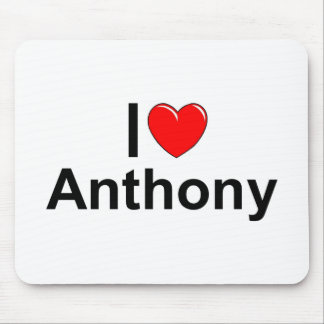 Amo (corazón) a Anthony Mouse Pad