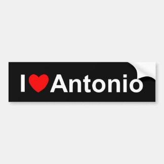 Amo (corazón) a Antonio Pegatina Para Auto