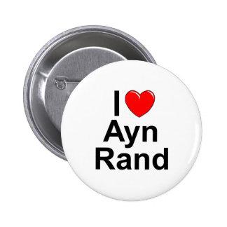 Amo (corazón) a Ayn Rand Pins