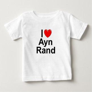 Amo (corazón) a Ayn Rand Playera Para Bebé