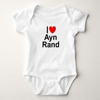 Amo (corazón) a Ayn Rand Playeras