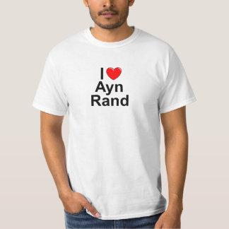 Amo (corazón) a Ayn Rand Poleras
