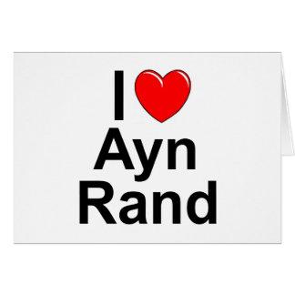 Amo (corazón) a Ayn Rand Felicitacion