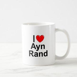 Amo corazón a Ayn Rand Taza