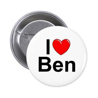 Amo (corazón) a Ben Pin Redondo De 2 Pulgadas
