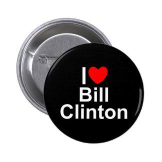 Amo corazón a Bill Clinton Pin