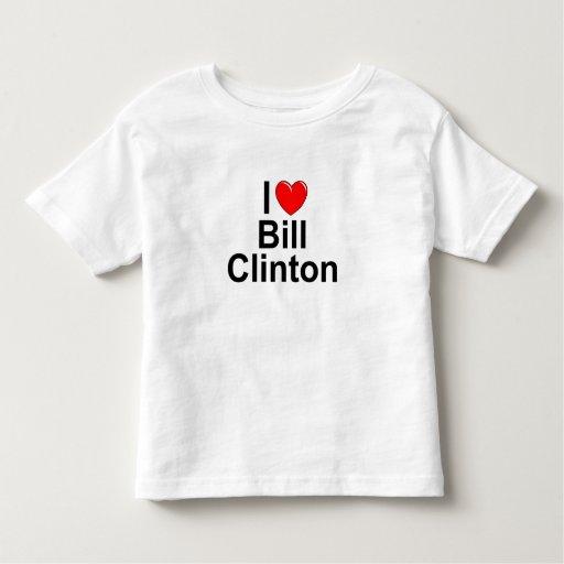 Amo (corazón) a Bill Clinton Playera De Bebé